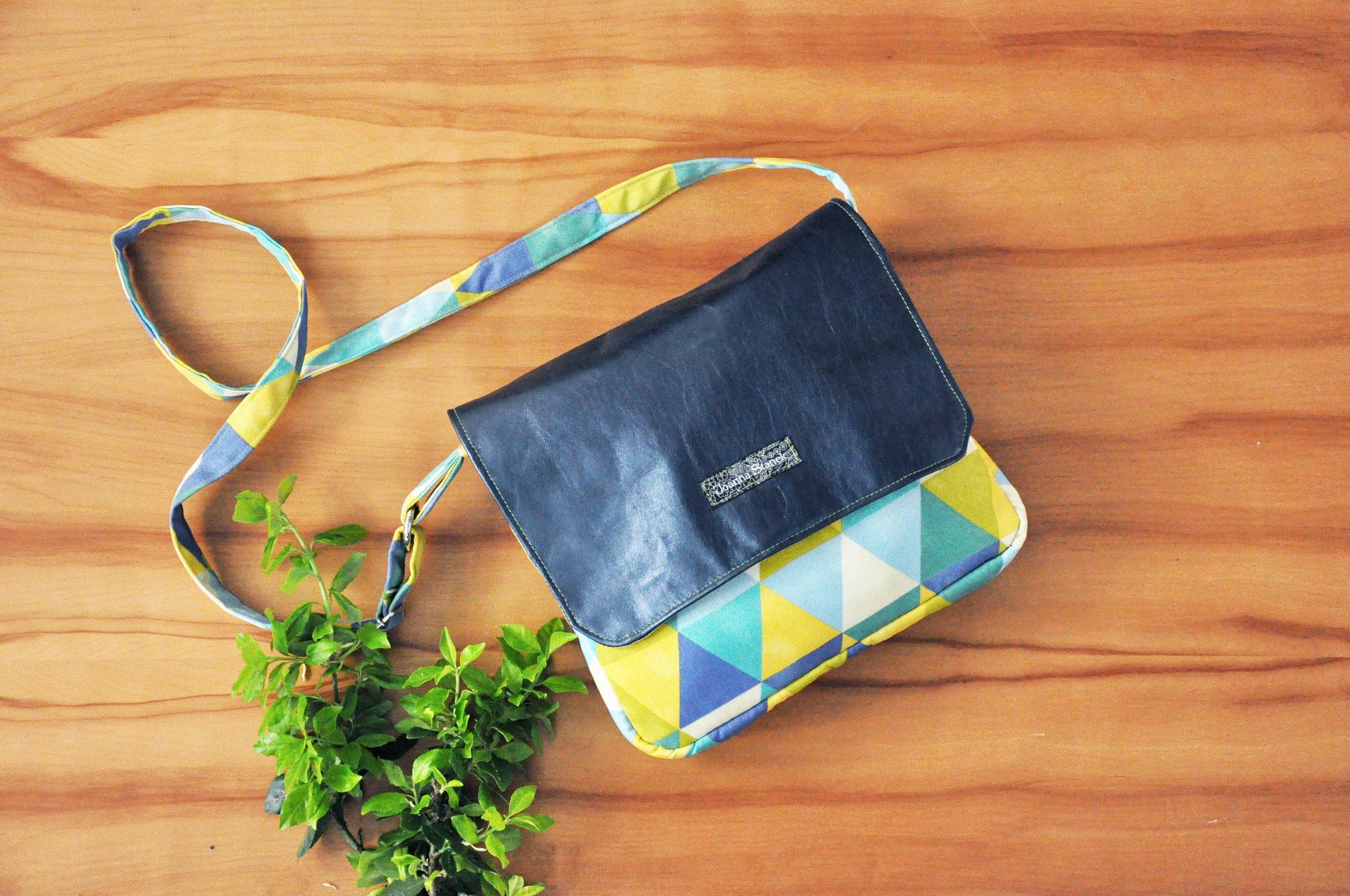 Personalized Blue Paisley Messenger Bag